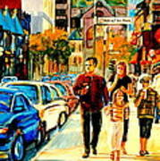 Thursdays Pub On Crescent Street Montreal City Scene Art Print