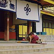 Tibet Prayer 1 Art Print