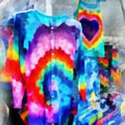 Tie Dye Shirts Art Print