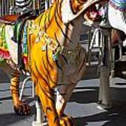 Tiger Carousel Ride Art Print