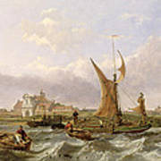 Tilbury Fort - Wind Against The Tide Art Print by William Clarkson Stanfield