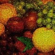 Tiled Fruit  Art Print