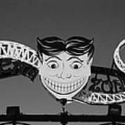 Tillie's Scream Zone In Black And White Art Print