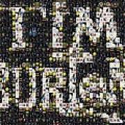 Tim Burton Poster Collection Mosaic Art Print