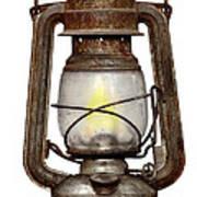 Time Worn Kerosene Lamp Art Print