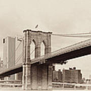 Timeless-brooklyn Bridge Art Print