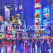 Times Square Art Print by Bill Unger
