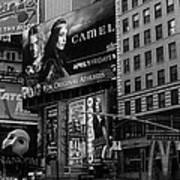 Times Square Black And White Art Print