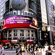 Times Square Corner Art Print by Linda  Parker
