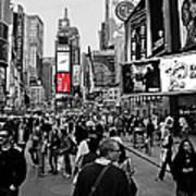 Times Square New York Toc Art Print