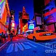 Times Square Nitelife Art Print