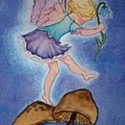 Tiptoe Fairy Art Print