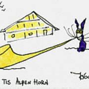 Tis Alpenhorn Art Print