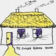 Tis Gingerbread House Art Print