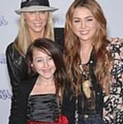Tish Cyrus, Noah Cyrus, Miley Cyrus Art Print