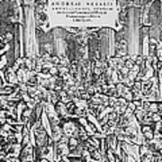 Title Page To Vesalius' Book On Anatomy Art Print