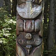 Tlingit Totem Pole, Sitka National Art Print