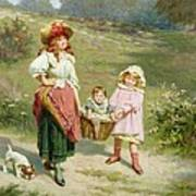 To Market To Buy A Fat Pig Art Print by Edwin Thomas Roberts