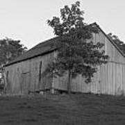 Tobacco Barn II In Black And White Art Print