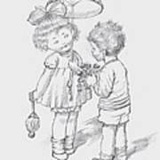 Toddlers 4 Art Print