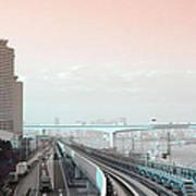 Tokyo Train Ride 3 Art Print by Naxart Studio