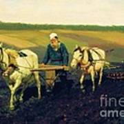 Tolstoy In The Ploughland Art Print