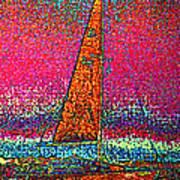 Tom Ray's Sailboat 3 Art Print