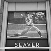 Tom Seaver 41 In Black And White Art Print