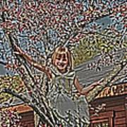 Tomboy In The Tree Print by Randall Branham