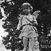 Tombstone Angel Bw Art Print