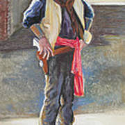Tombstone Cowboy Art Print