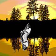 Amber Lake #4 Art Print