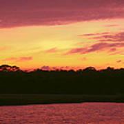 Tomoka River Sunset Art Print