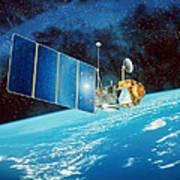 Topex/poseidon Satellite Art Print