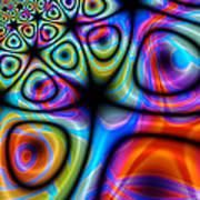 Topological Foam Of Quantized Space-time Art Print
