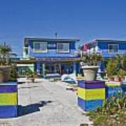 Topsail Island Patio Playground Art Print