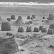 Topsail Island Sandcastle Art Print