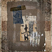 Torn Papers On Wall Number 3 Art Print