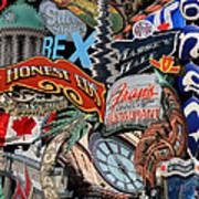 Toronto Pop Art Montage Art Print