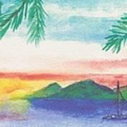 Tortola Sunset Art Print