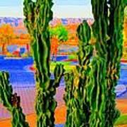 Totem Cactus Art Print