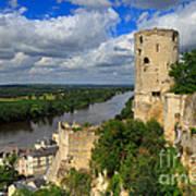 Tour Du Moulin And The Loire River Art Print