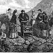 Tourists At Vesuvius, 1872 Art Print