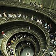 Tourists Descend The Double Spiral Art Print