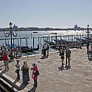 Tourists In Venice Art Print