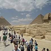 Tourists View The Great Sphinx Art Print