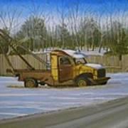 Tow Truck On Burgoyne Ave. Art Print by Mark Haley