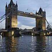 Tower Bridge And River Thames At Dusk Art Print