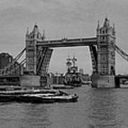 Tower Bridge And The Endeavor Art Print