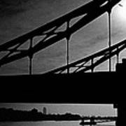Tower Bridge Silhouette Art Print